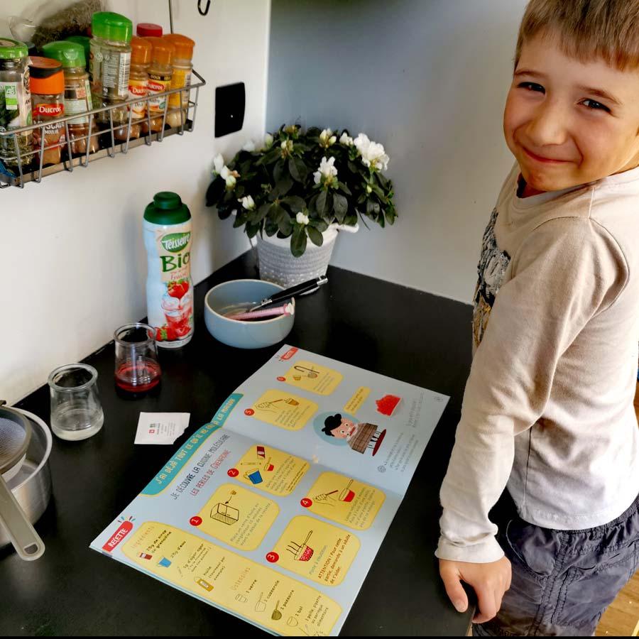 Atelier cuisine moléculaire pour enfant à la maison