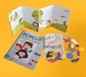 Une box éducative et ludique avec un magazine et tout le matériel nécessaire pour réaliser une activité manuelle ou une expérience