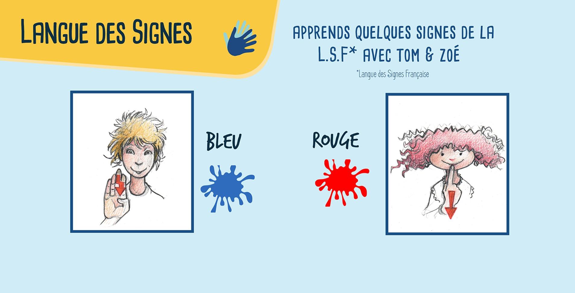 Les couleurs en langue des signes