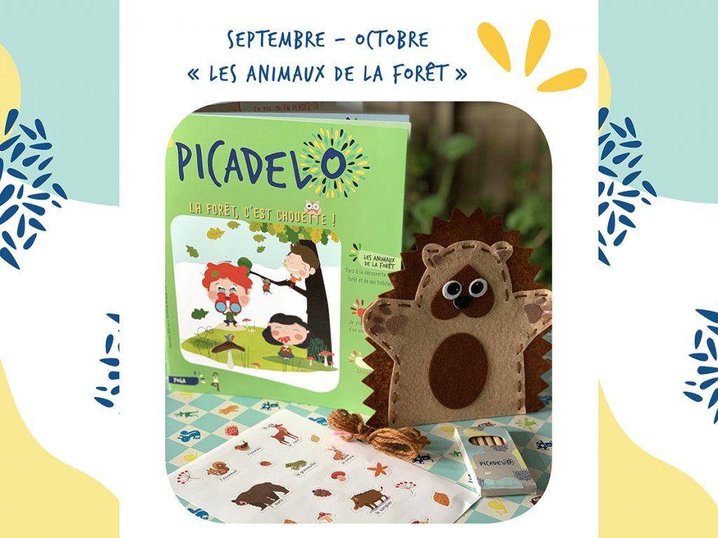 La box picadelo de septembre sur les animaux de la forêt