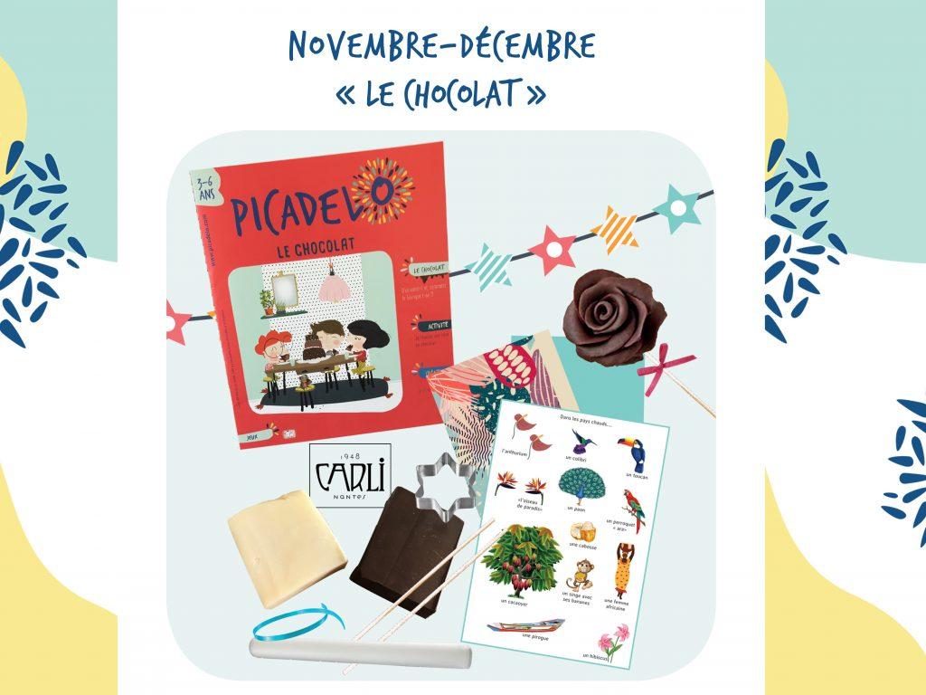 La box de novembre décembre sur le chocolat