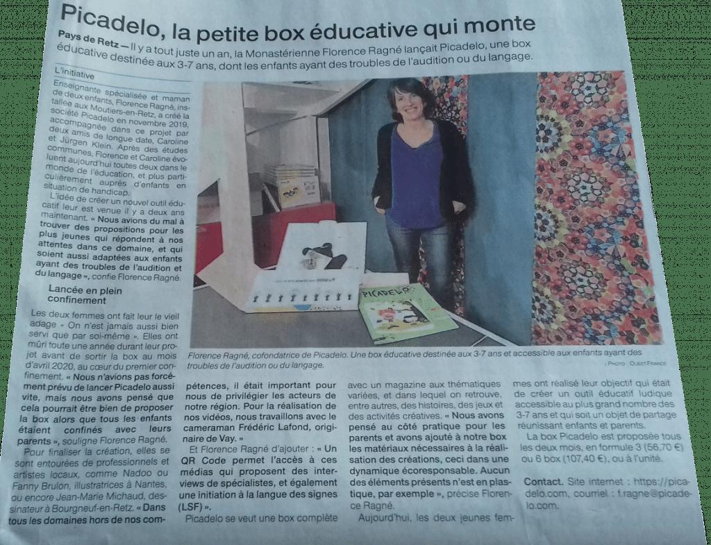 article de presse ouest france parle de picadelo