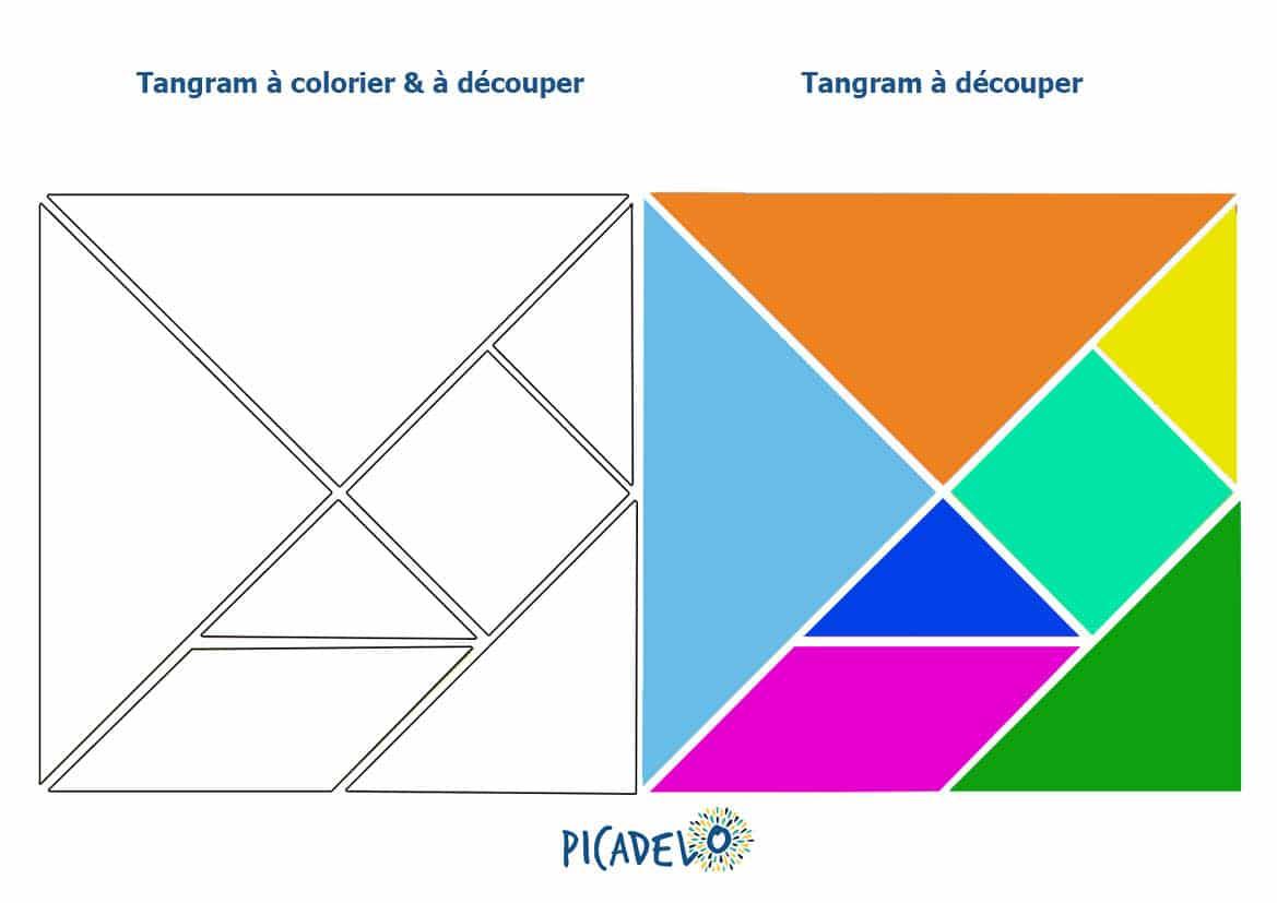Tangram à découper - modèle gratuit pour enfant