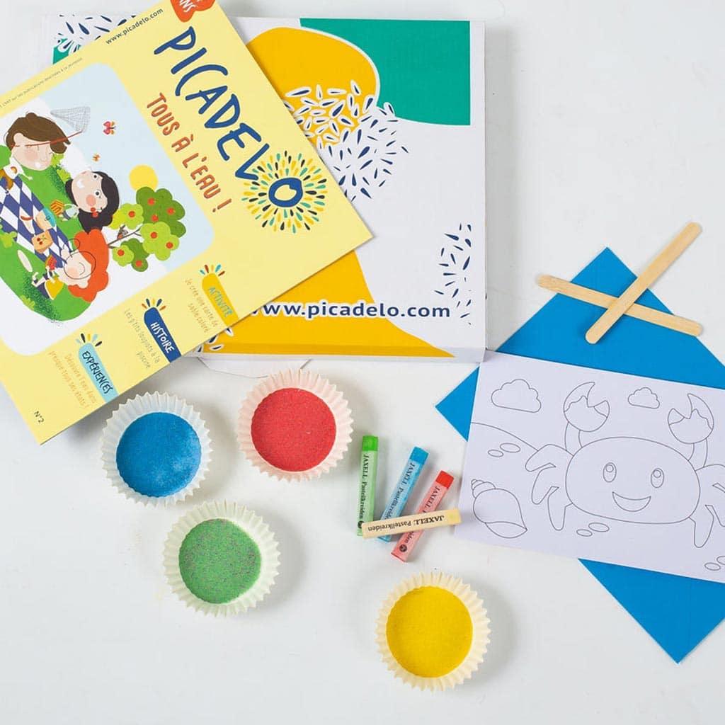 La box de l'été picadelo - kit d'activités pour enfants de 3 à 7 ans