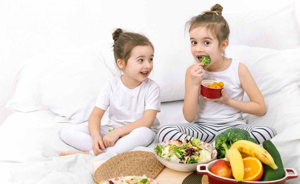 des fruits et des légumes à tous les repas