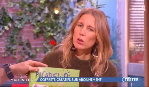 Emission Télévision France 4 La maison des maternelles - recommande box enfant picadelo