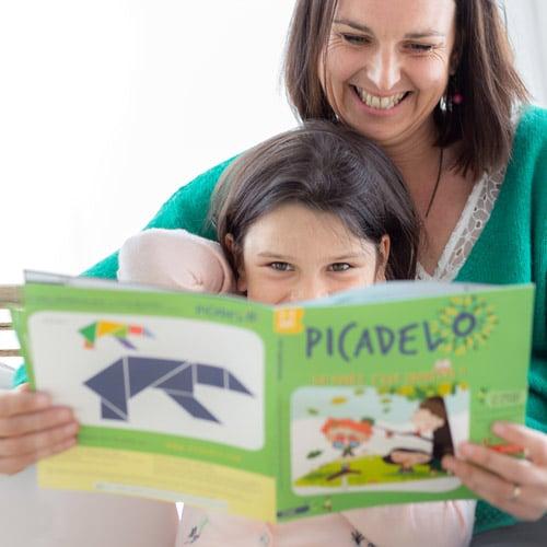 Magazine avec contenu pour les enfants de 3 à 7 ans et pour leurs parents : interview, articles de professionnels de l'éducation